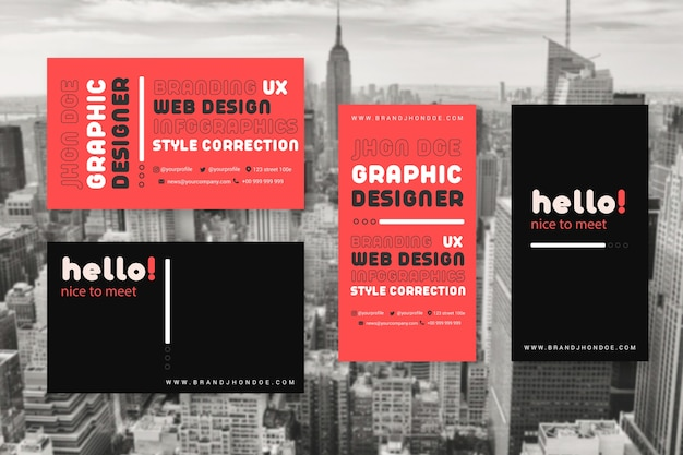 Business card templates for graphic designers