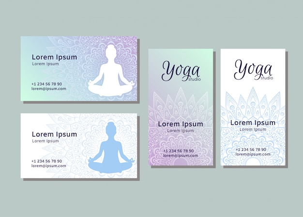 Business card templates for yoga studio