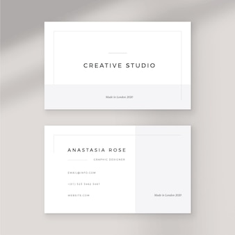 Business card theme monochrome template