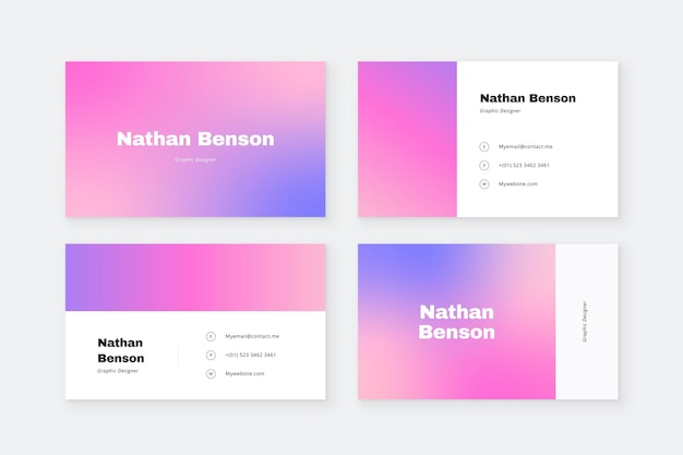Business card theme in pastel color