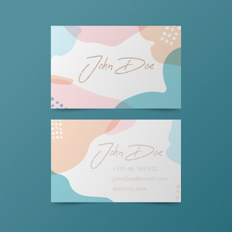 Business card theme in pastel colors
