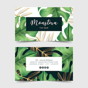 Business card for tiki bar