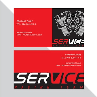 Business card vector design and racing sport.
