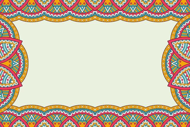 Business card. vintage decorative elements. ornamental floral business cards, oriental pattern,  illustration