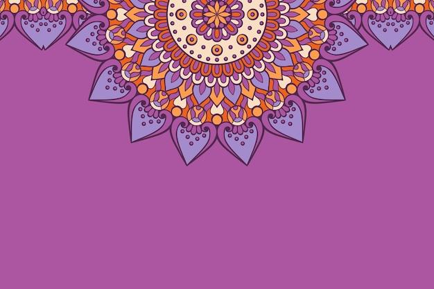 명함. 빈티지 장식 요소. 관 상용 꽃 명함, 동양 패턴, 그림