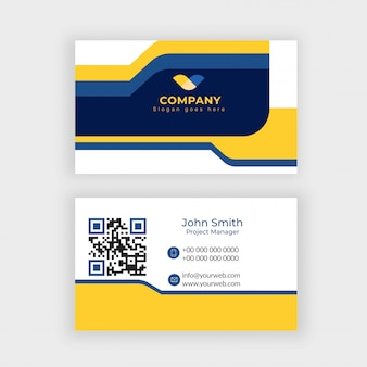 Business card or visiting card design in front and back view.