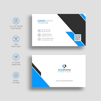 Business card visiting card template