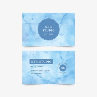 Business card watercolor style