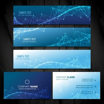 Business card and web banners collection