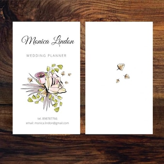 Business card of wedding planner