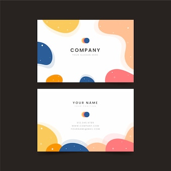 Business card white with colourful frame