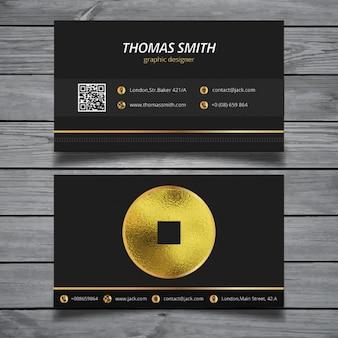 Шаблон визитной карточки современные золото