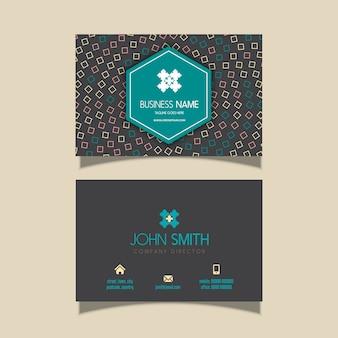 Визитная карточка с современным дизайном