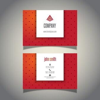 Визитная карточка с дизайном польки