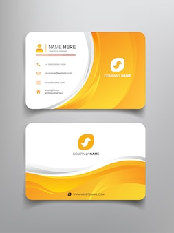 Business card with abstract curve