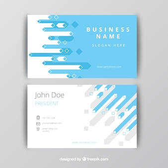 Business card with abstract forms