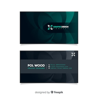 Business card with abstract geometric models