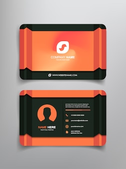 Business card with abstract line art