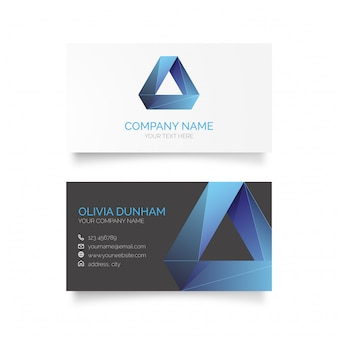 Business Card with Abstract Logo