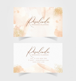 Business card with abstract splash and sparkle template Premium Vector