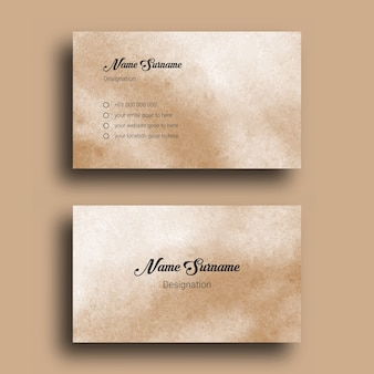 Business card, with abstract splash watercolor background design template Premium Vector