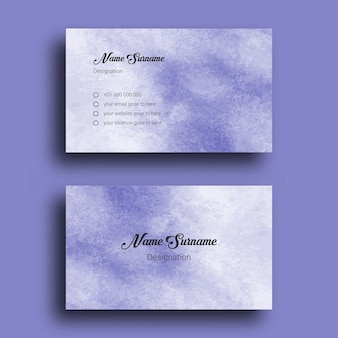 Business card, with abstract splash watercolor background design template