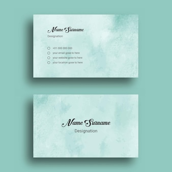 Business card, with abstract splash watercolor   design template