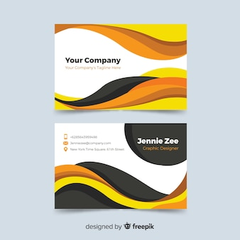 Business card with abstract template