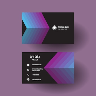 Business card with arrow design
