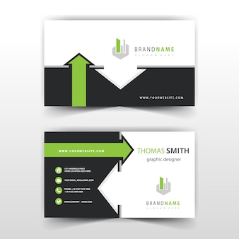 Business card with arrow detailed template