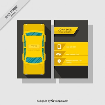 Business card with banners for taxis