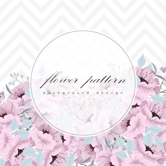 Business card with beautiful flowers background