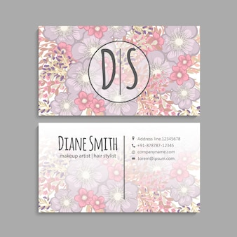 Business card with beautiful flowers.