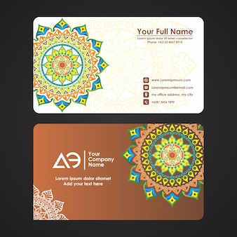 Business card with beautifull and elegant ornament