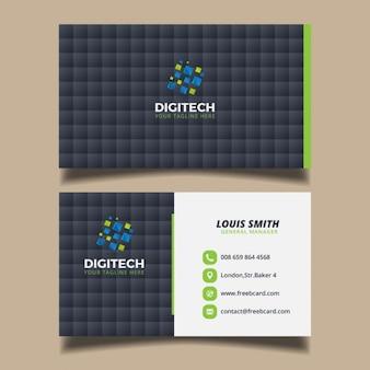 黒い四角のビジネスカード