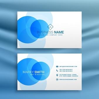 青い丸のビジネスカード
