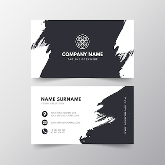 Business card with brushstrock effect