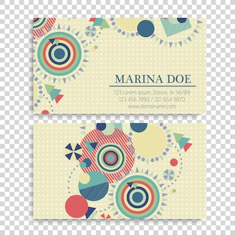 Business card with circles