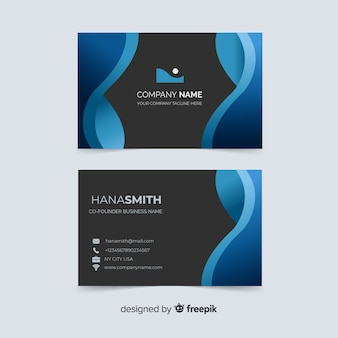 Business card with company name template