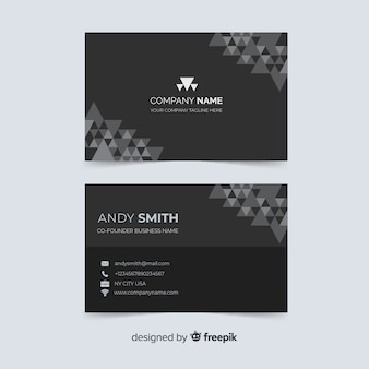 Business card with company name