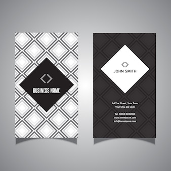 Business card with diamond design