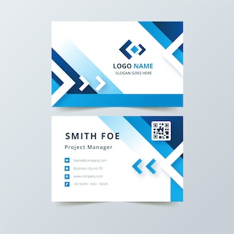Business card with different abstract shapes