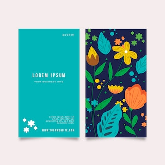 Business card with different plants