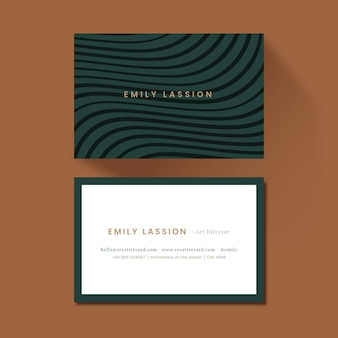 Business card with distorted lines pack