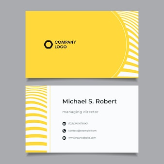 Business card with distorted lines set