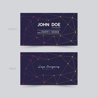 Визитная карточка с точками и линиями