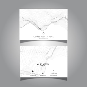 Business card with a flowing particles design