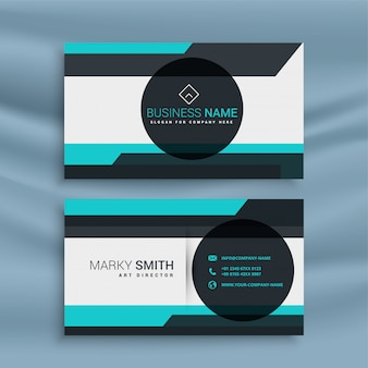 Business card with geometric shape design