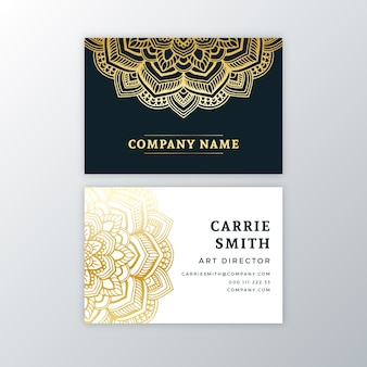 Business card with golden mandala