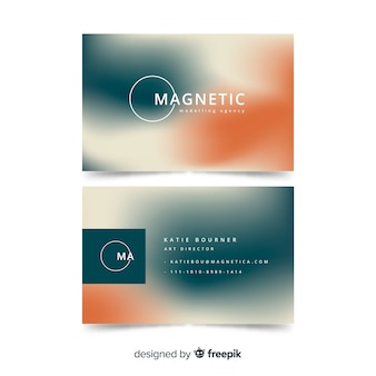 Business card with gradient colors